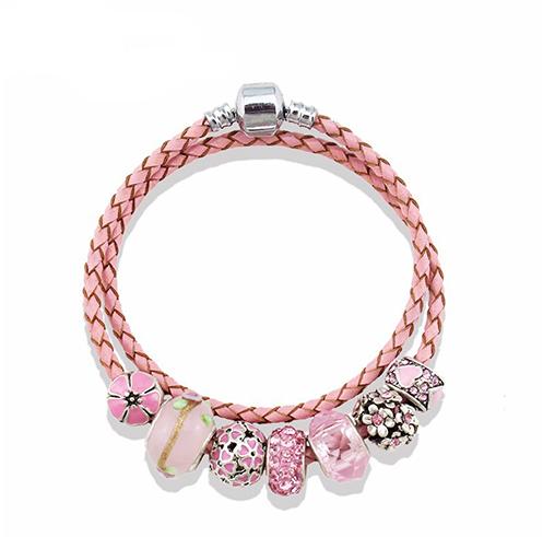 rose_leather_charm_bracelet